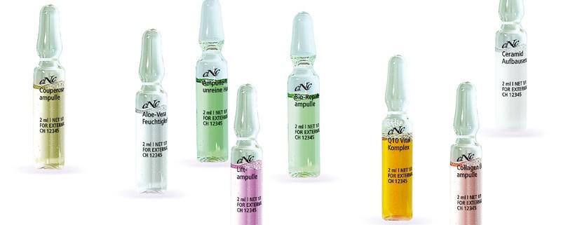 CNC Ampullen Beispiele Haut und Sinne